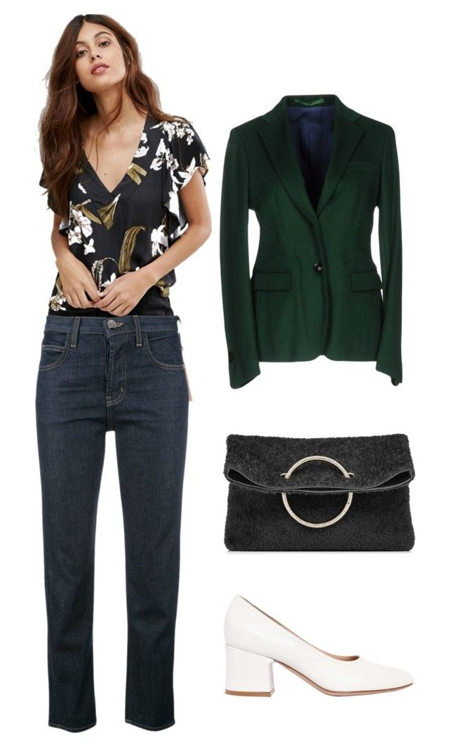 """Marina: jeans"" by kseniakul ❤ liked on Polyvore featuring Somedays Lovin, Current/Elliott, Mauro Grifoni, Gianvito Rossi, Victoria Beckham, WorkWear, denim and WhatToWear"