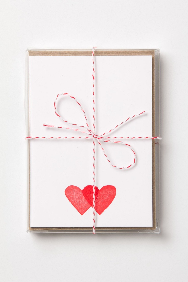 Little Hearts Note Cards - Anthropologie.com