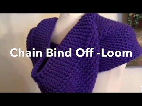 Loom Knit Chain One Bind off | Chain Bind Off - YouTube