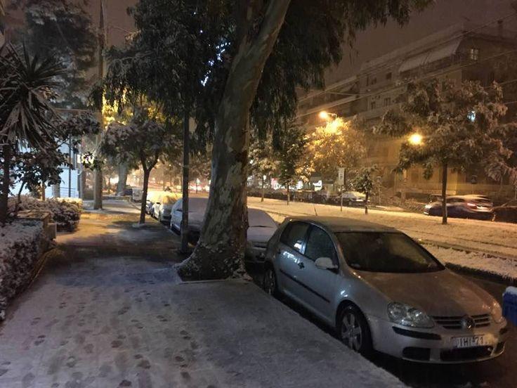 Χιόνι στη Νέα Σμύρνη 9.1.2017