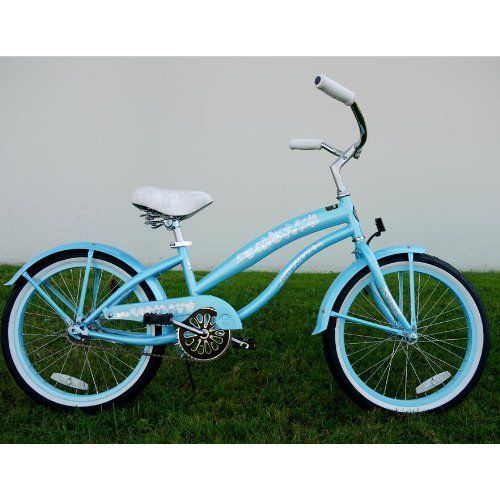 Kids bike girls 20 Beach Cruiser baby blue bicycle by GreenLine. $219.00. Girls…