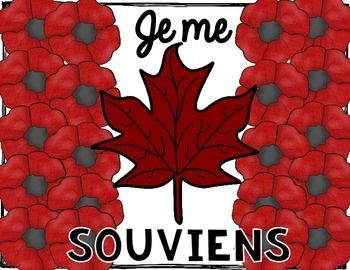 Create a Remembrance Day poppy flag in French to mark this important day - Jour du souvenir.