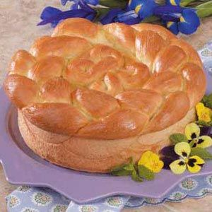 Paska! It's a traditional sweet, round bread we eat at Easter. Reminds me of my grandmom's house... :)