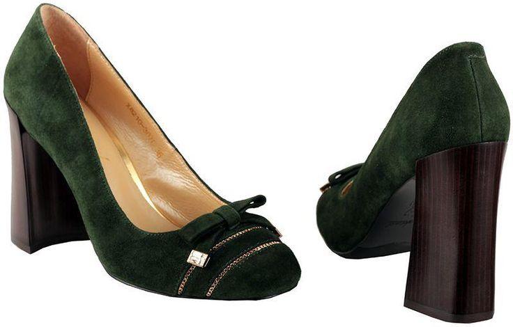 Обувь женская зеленые сапоги замша