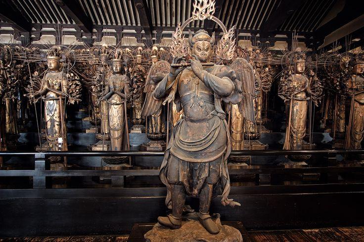 """Rengeō-in"" (蓮華王院), or Hall of the Lotus King, Sanjūsangen-dō, Myoho-in temple, Kyoto, Japan"