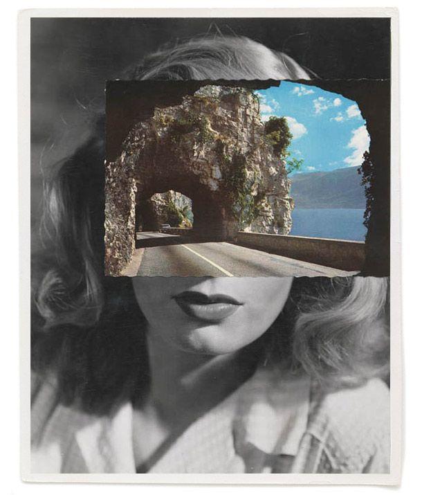 John Stezaker  Postcard Faces. Collage