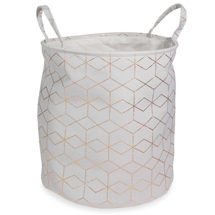 COPPER fabric linen basket H 45 cm