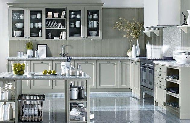 Moderne Landhausküche XL 5182 in Mausgrau (Ballerina Küchen - küchenschränke günstig online kaufen