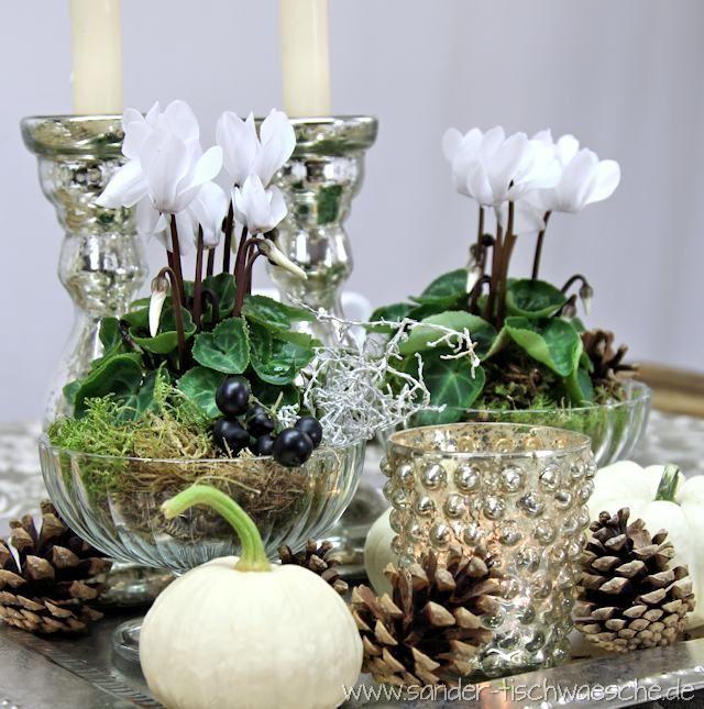 Cyclamen Table Decorations Table Decorations Floral Arrangements Diy Home Floral Arrangements