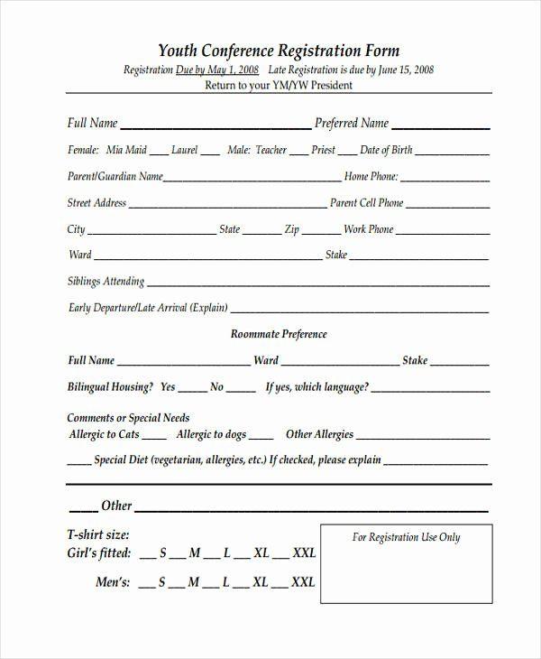 Printable Registration Form Template Best Of Printable Registration Form Templates 9 Free Pdf Registration Form Registration Form Sample Resume Examples