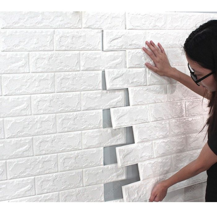 Environmental 3d Stereoscopic Brick Wall Paper Sticker Sale Price Reviews Gearbest Mobile Wall Stickers Brick Brick Wallpaper Brick Wall Wallpaper