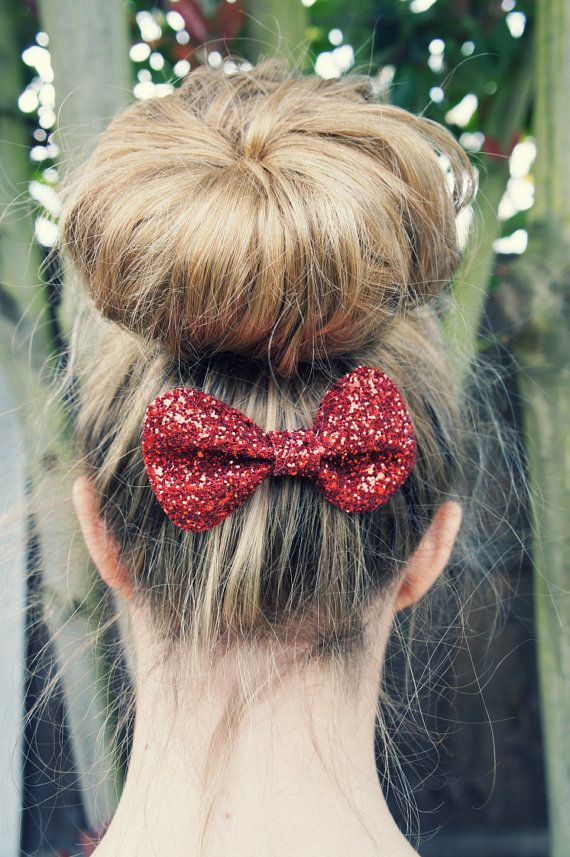 red glitter bow.