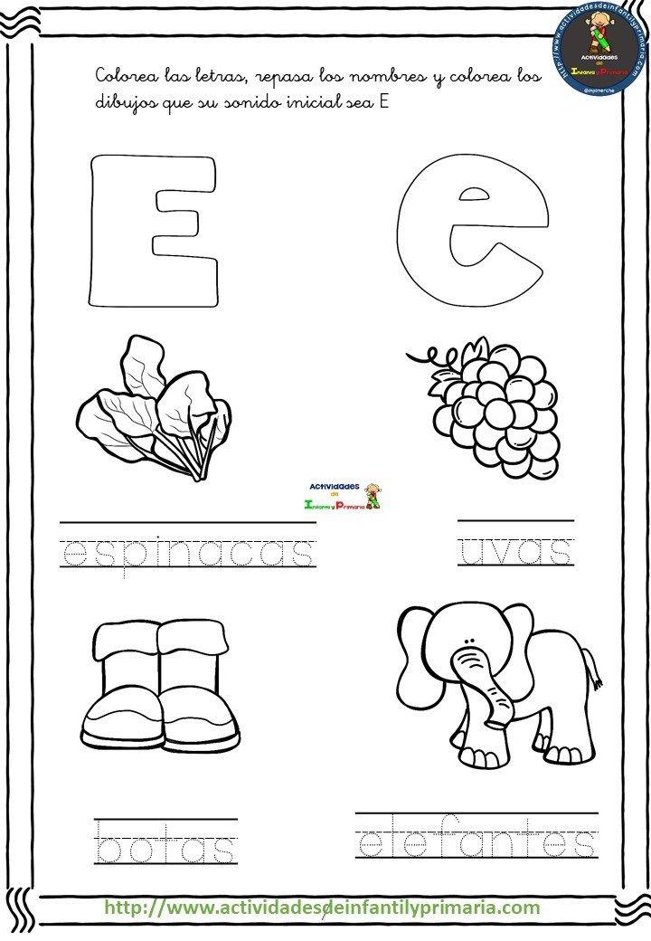Coleccion De Fichas Traza Y Colorea Fichas Ensenanza De Las Letras Actividades Para Lectoescritura