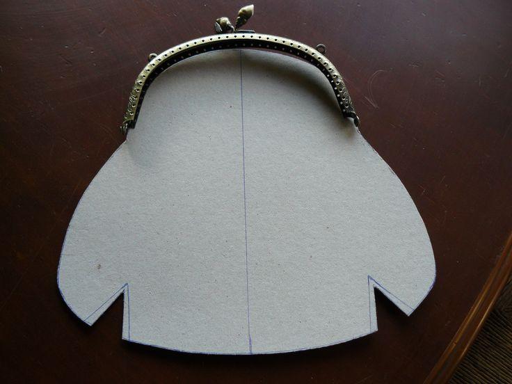 Patrón de bolso boquilla vintage