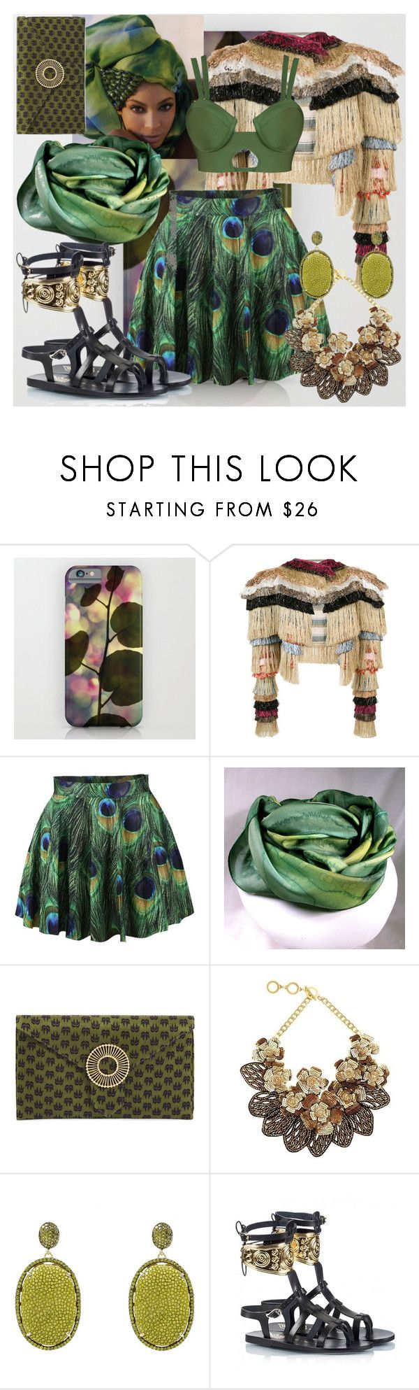 """Exotic Green !!"" by nova5ta5ia ❤ liked on Polyvore featuring Vivienne Westwood, House of Deréon, Wilbur & Gussie, Forest of Chintz, Ancient Greek Sandals, contest, kiwi and fiftyshadeofgreen"
