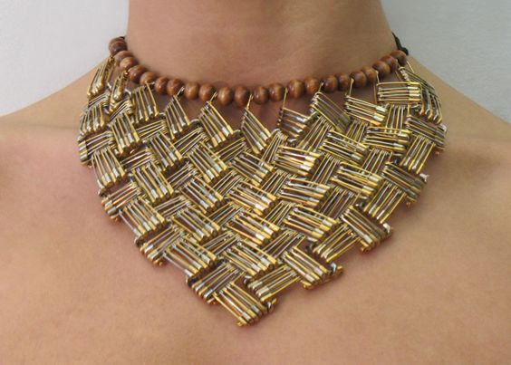 Safety pin statement necklace