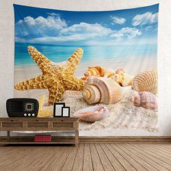Starfish Conch Beach Style Wall Art Tapestry
