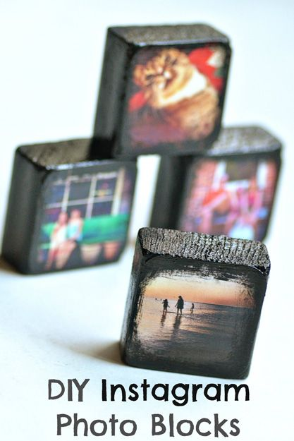 One of these could be good on each table?! DIY Instagram Photo Blocks | Intimate Weddings - Small Wedding Blog - DIY Wedding Ideas for Small and Intimate Weddings - Real Small Weddings