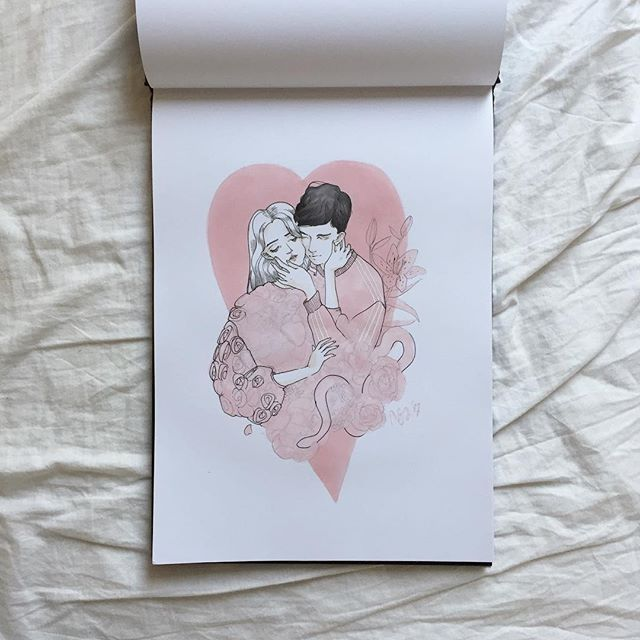 Hapy Valentine's Day!  #instart #instartist #inspiration #mood #snake #girl #tumblrgirl #tumblrart #polishgirl #artist #art #illustration #plant #tropical #pink #brushmarkers #artstagram #love #valentines #couple #polishartist #ilustracja #rysunek #sztuka #miłość #kwiatysapiekne #flowerstagram #drawing #drawingoftheday #illustrationoftheday