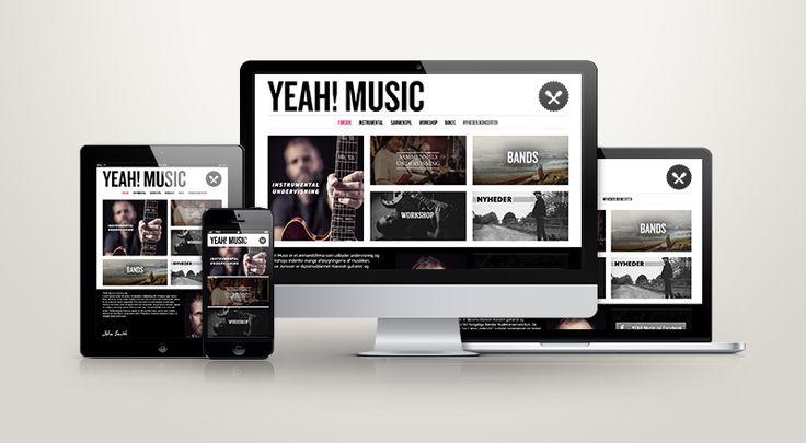 Website for Yeah! Music (Lasse Jonsson)