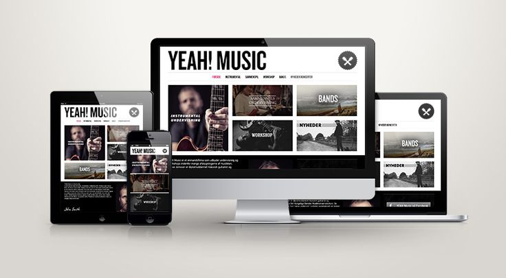 Website for Yeah! Music (Lasse Jonsson)