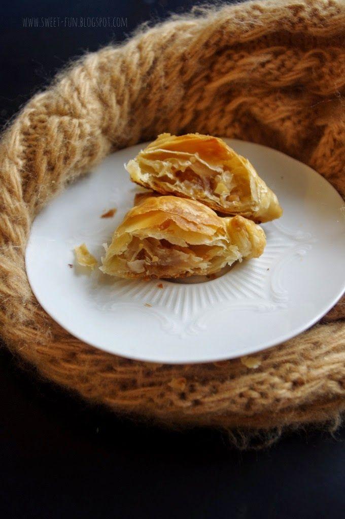 Francuskie ciasteczka z mirabelką i jabłkami z bloga Słodkie Przyjemności