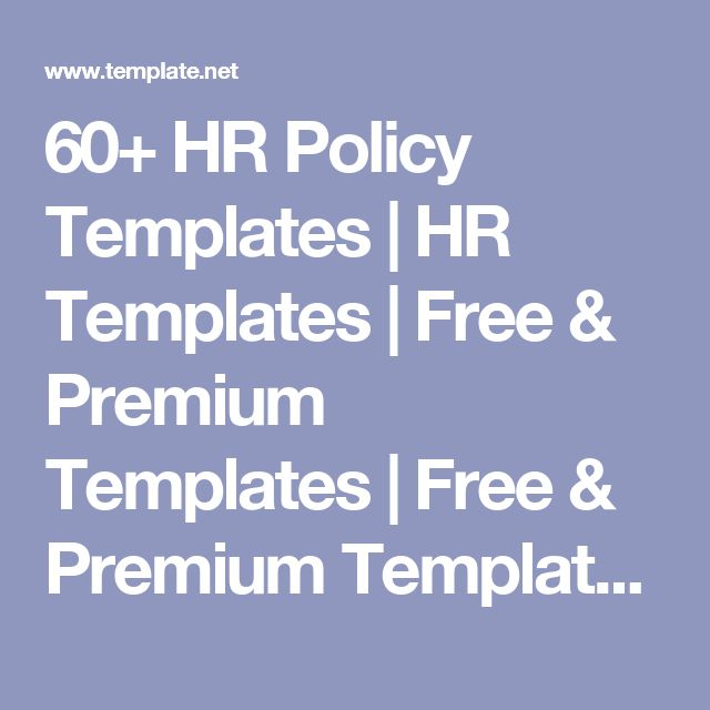 60 hr policy templates