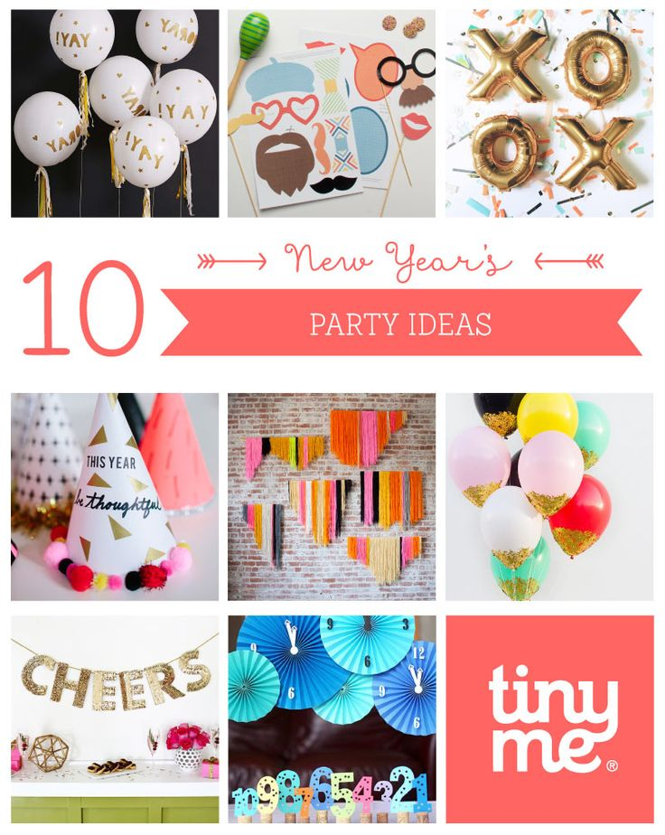 10 New Year's Party Ideas ~ Tinyme