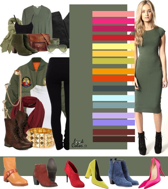 Military green: shoe colour match