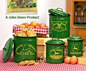 John Deere Kitchen Decor 1. John Deere 4 Pc Canister