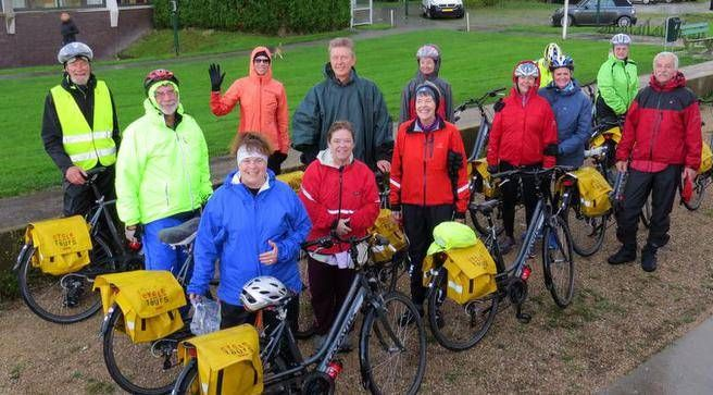 The enthusiastic cyclists who took part in Pat Lee's week-long tour of the Netherlands. (CONTRIBUTED)