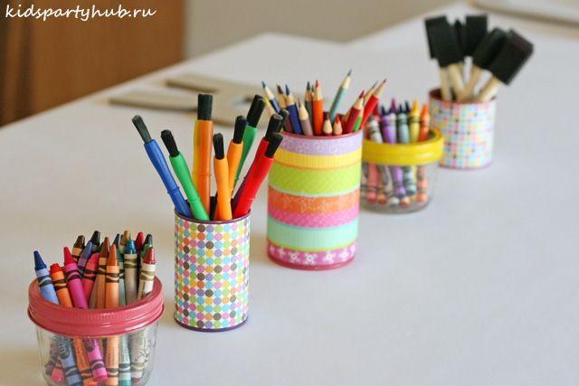 kidspartyhub.ru_День Рождения на тему Искусство в цветах радуги_карандаши, фломастеры