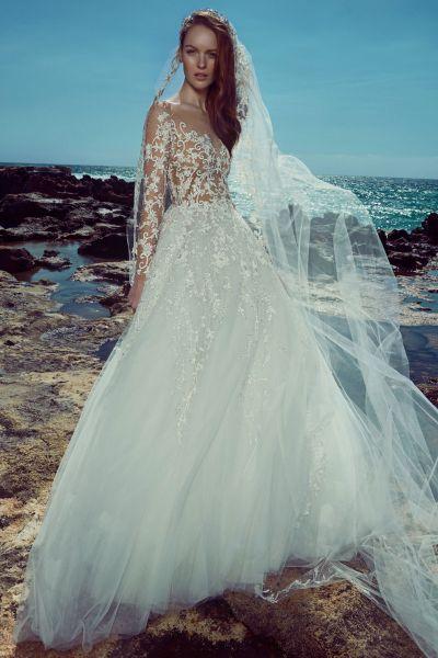 Vestidos de novia línea A 2017: 40 diseños para lucir una figura estilizada y entallada Image: 25
