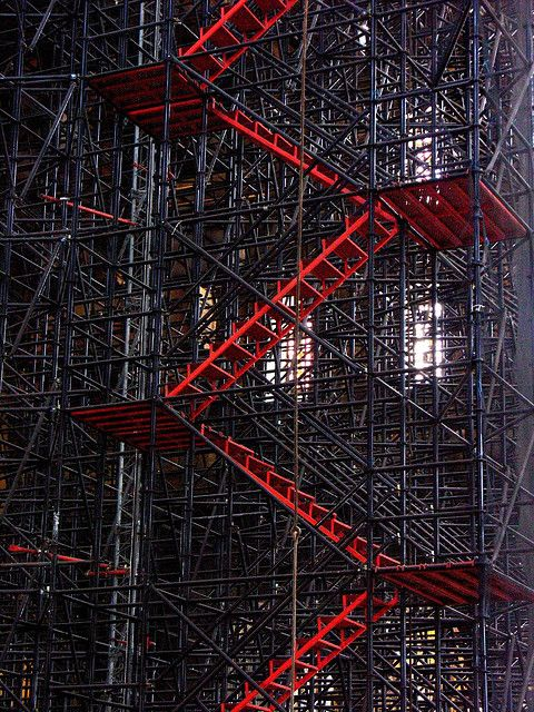 Stairway in the Scaffolding | Taken in Hagia Sophia in Istan…  howtorowacat