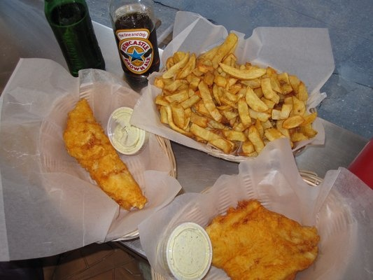 Pollack and haddock with chips from a salt battery there for Amy ruth s home style southern cuisine