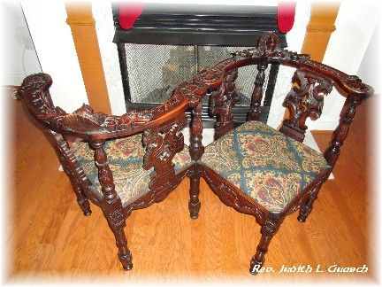 Awesome I Love The Idea Of Victorian Courting Chairs