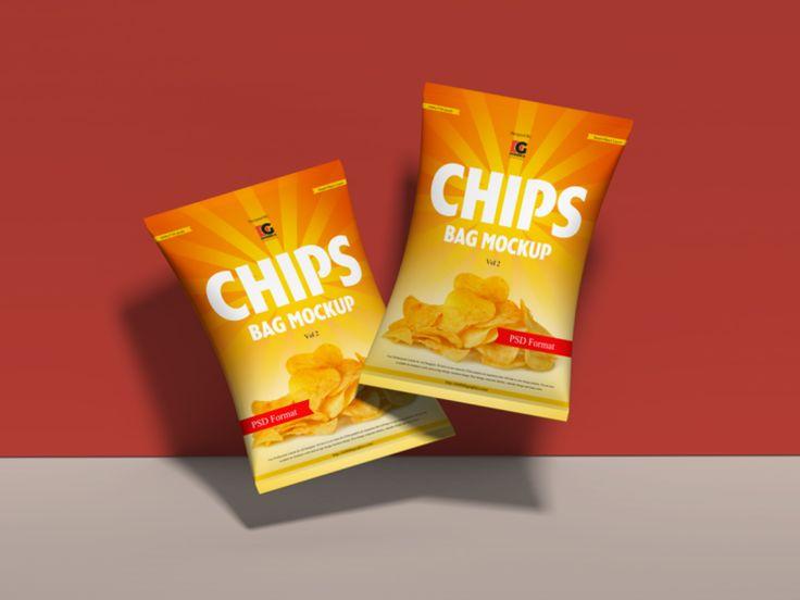 Free Chips Bag Mockup Psd Vol 2 Packaging Mockup Chip Packaging Bag Mockup