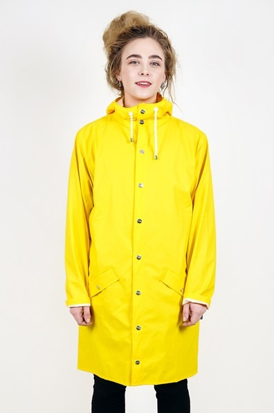 Rains - Long Jacket Yellow