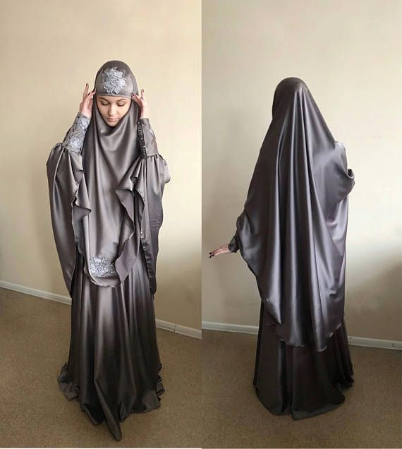 COTTON XL One Piece Amira Khimar Jersey Jilbab Pull Over Ready Made Abaya