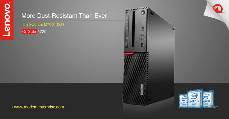 ThinkCentre M700 Improved performance, a sleek & smaller new look, & reduced dust intake with optional dust shield. ON SALE $729 Shop now  »  #desktop #computer #mesmodern #lenovo #sleek #innovative #sale