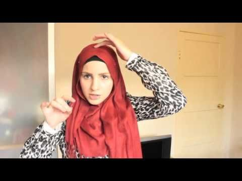 Hijab tutorial with full chest coverage (and necklace) | Safiyahhh