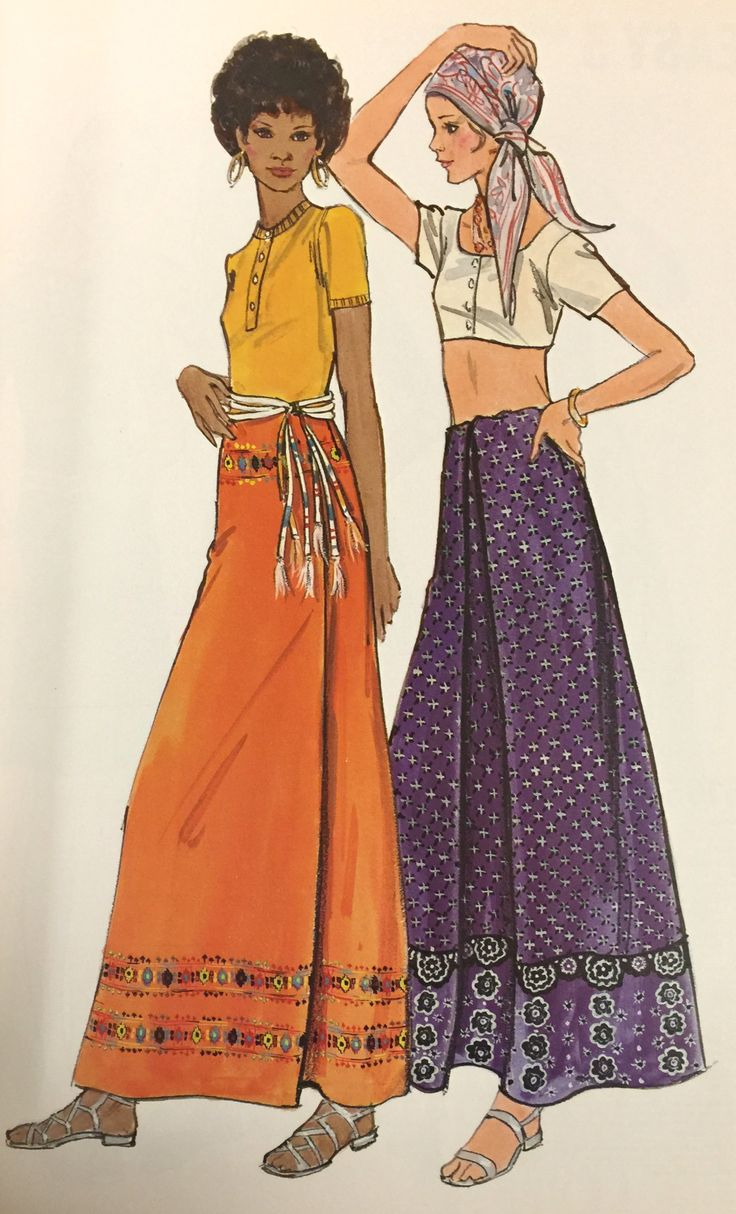 1970's Butterick maxi skirt pattern. From our archives.