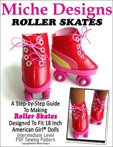 Miche Designs Roller Skates Doll Clothes Pattern 18 inch American Girl Dolls   Pixie Faire