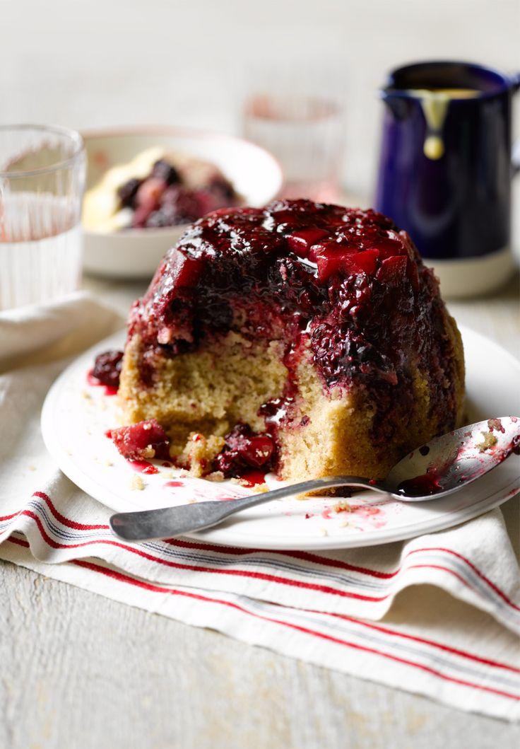 Blackberry and pear steamed pudding september 2014 for Blackberry pear jam