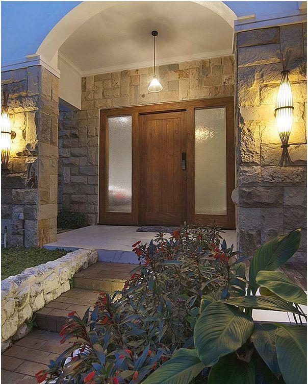 Model desain pintu utama rumah minimalis modern (Dengan ...