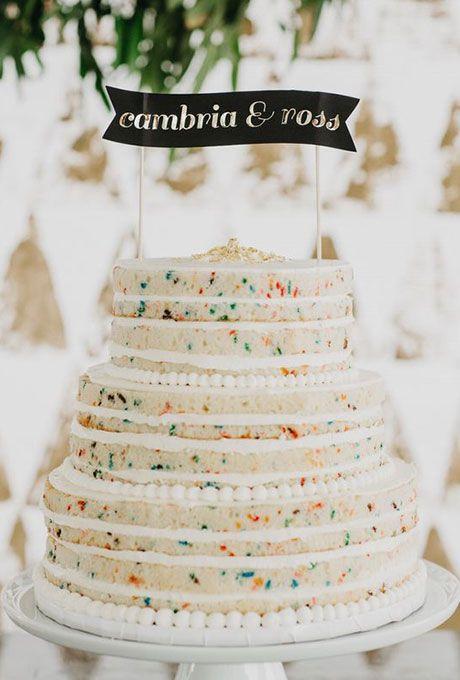 Brides: Sprinkle Wedding Cakes