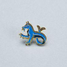 Наши сувениры: Значок эмалированный Гиппокампус