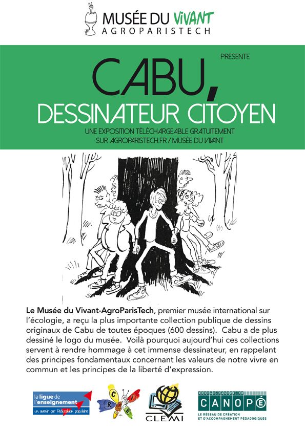 Exposition 2015 : Cabu, dessinateur citoyen / ©Musée du Vivant - AgroParistech