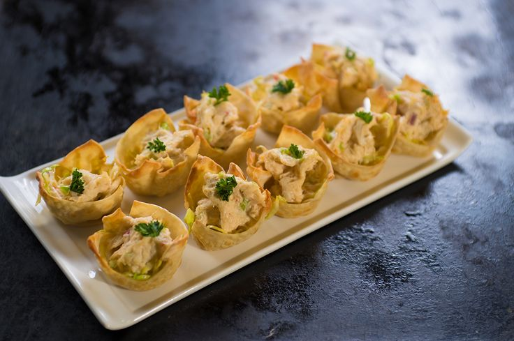 Asian Salad in a Crab Wonton Cup | Let's get this party started | Pin ...
