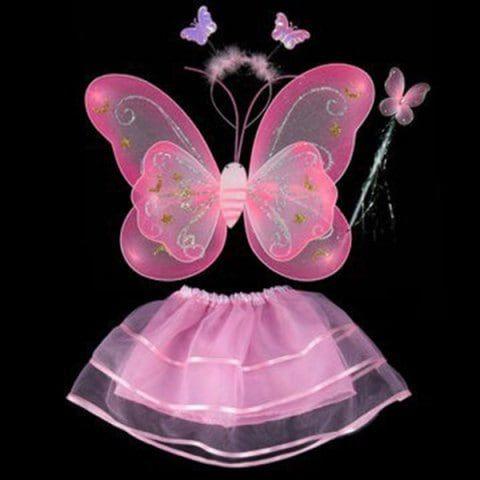 Kids Girls Angel Fairy Butterfly Wings Skirt Fancy Dress Up Halloween Outfits
